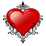 стеклянные орнаменты сердца иллюстрация штока