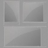 Стеклянные пластинки установлены Знамена вектора стеклянные на прозрачной предпосылке Стекло Стеклянные картины Рамки цвета Стоковое фото RF