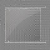 Стеклянные пластинки установлены Знамена вектора стеклянные на прозрачной предпосылке Стекло Стеклянные картины Рамки цвета Стоковое Фото