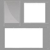Стеклянные пластинки установлены Знамена вектора стеклянные на прозрачной предпосылке Стекло Стеклянные картины Рамки цвета Стоковые Изображения