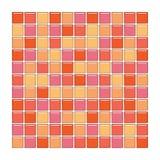стеклянные померанцовые розовые плитки Стоковые Фотографии RF