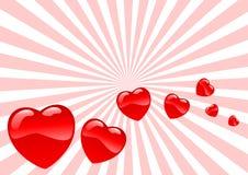 стеклянные сердца иллюстрация вектора