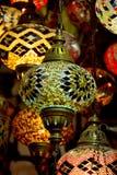 Стеклянные фонарики в грандиозном базаре стоковые фотографии rf