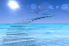 стеклянные шаги Стоковая Фотография RF