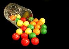 стеклянные gumballs Стоковое Фото