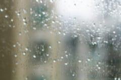 стеклянные raindrops стоковая фотография rf