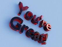 стеклянный большой красный цвет re логоса вы иллюстрация штока