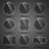 стеклянный вектор комплекта ярлыков Стоковое фото RF
