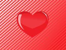 стеклянный вектор красного цвета сердца Стоковые Фото