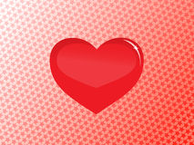 стеклянный вектор сердца Стоковые Изображения
