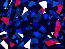 Стеклянный взрыв Сломленные частицы Разбрасывает частиц красных и голубого цвета o r бесплатная иллюстрация