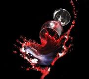 стеклянный выплеск стоковая фотография