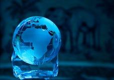 Стеклянный глобус Стоковые Фотографии RF