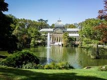 Стеклянный дворец парка выхода на пенсию стоковая фотография