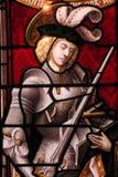 стеклянный запятнанный рыцарь Стоковая Фотография