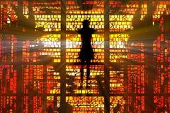 стеклянный запятнанный jesus Стоковые Фотографии RF