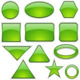 стеклянный зеленый комплект иконы Стоковые Изображения