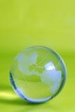 стеклянный зеленый цвет глобуса стоковое изображение