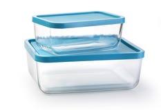Стеклянный изолированный пищевой контейнер стоковая фотография rf