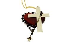 стеклянный красный цвет сердца Стоковое Фото