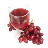 стеклянный красный цвет сока виноградины стоковые фото