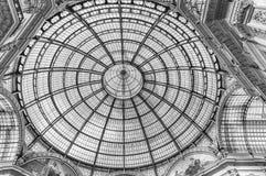 Стеклянный купол Galleria Vittorio Emanuele II, милан, Италия Стоковое Изображение RF