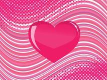стеклянный пинк сердца Стоковое Фото