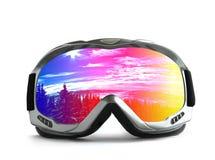 стеклянный спорт лыжи Стоковое Фото