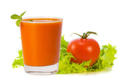 стеклянный томат сока Стоковые Фотографии RF
