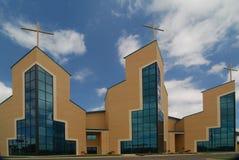 стеклянный триппель steeples Стоковые Изображения