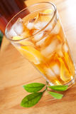 стеклянный чай льда Стоковое фото RF