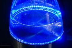 Стеклянный электрический чайник с водой Стоковая Фотография