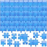 Стеклянный Aqua головоломки стоковое фото rf