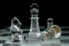 Стеклянный Chessboard стоковая фотография rf