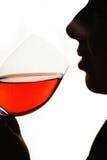 стеклянный sipping Стоковое Фото