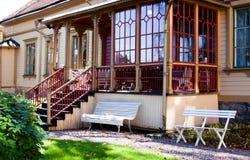 стеклянный verandah Стоковые Фото