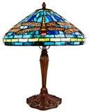 стеклянным таблица запятнанная светильником tiffany Стоковое Фото