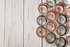 Стекл-черный и красный для выпивать напиток Стоковая Фотография RF