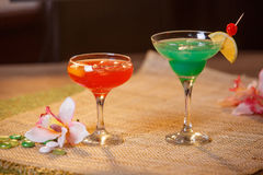 2 стекла безалкогольных коктеилей Стоковое фото RF