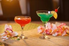 2 стекла безалкогольных коктеилей Стоковые Изображения RF