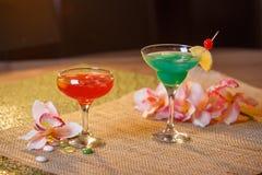 2 стекла безалкогольных коктеилей Стоковое Изображение RF