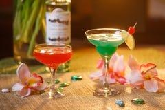 2 стекла безалкогольных коктеилей Стоковые Фото