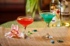 2 стекла безалкогольных коктеилей Стоковое Изображение