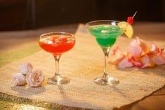 2 стекла безалкогольных коктеилей Стоковая Фотография RF