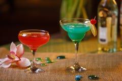 2 стекла безалкогольных коктеилей Стоковая Фотография
