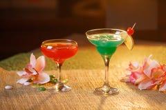 2 стекла безалкогольных коктеилей Стоковые Изображения