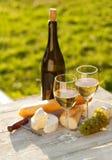 2 стекла белого вина Стоковое Фото