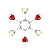 Стекла вина изолированные на белой предпосылке Стоковое Фото