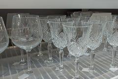 Стекла вина на таблице Стоковая Фотография RF