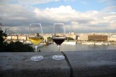 Стекла вина стоковая фотография rf